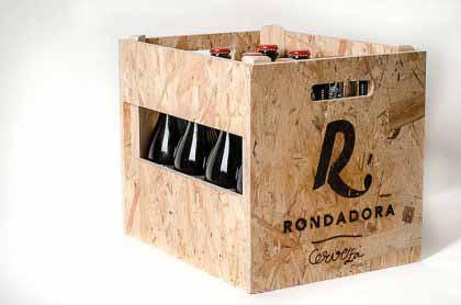Caja portabotellas de madera