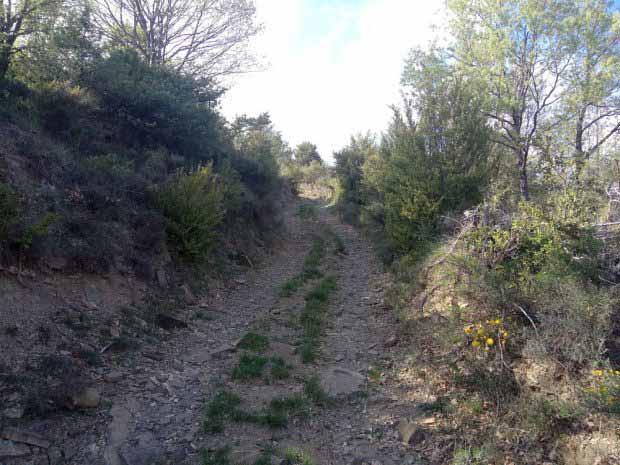La pista que llega a Santa Justa